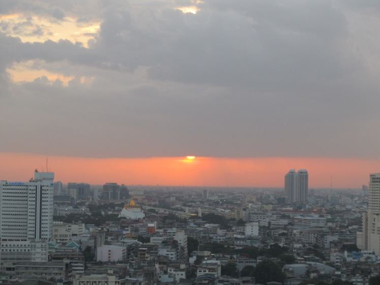 Sunset in budget-friendly Bangkok.