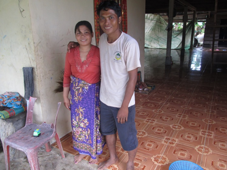 The owners of the orphanage, Vannak and his wife