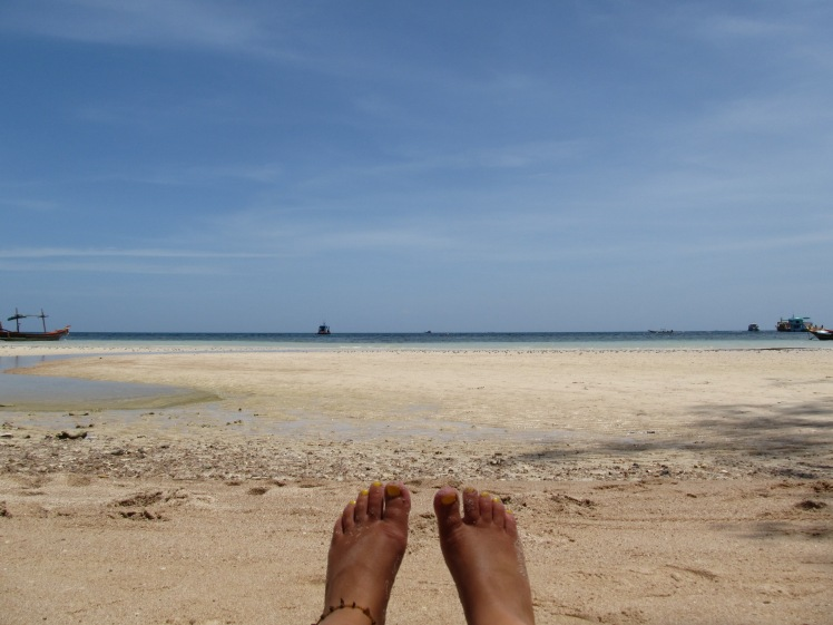 Relaxing on Sairee beach, Koh Tao