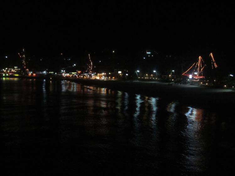 The sunrise beach by night, Koh Phangan
