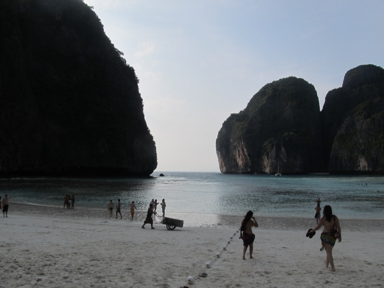 The stunning natural beauty of Maya Bay.