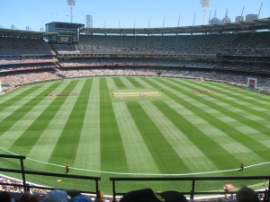 Inside the famous MCG stadium watching Australia vs. Sri Lanka.