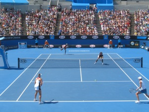 Venus and Serena Williams at the 2013 Australian Open.