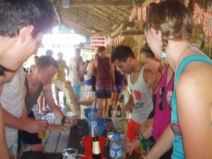 One of the tubing bars, Vang Vieng.