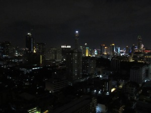 Night-time Bangkok.