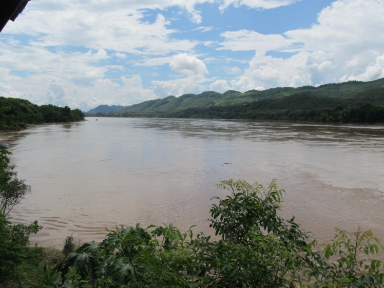 The river in Laos where I could have met my watery end.