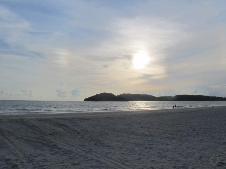 Watching sunset on Langkawi Island.