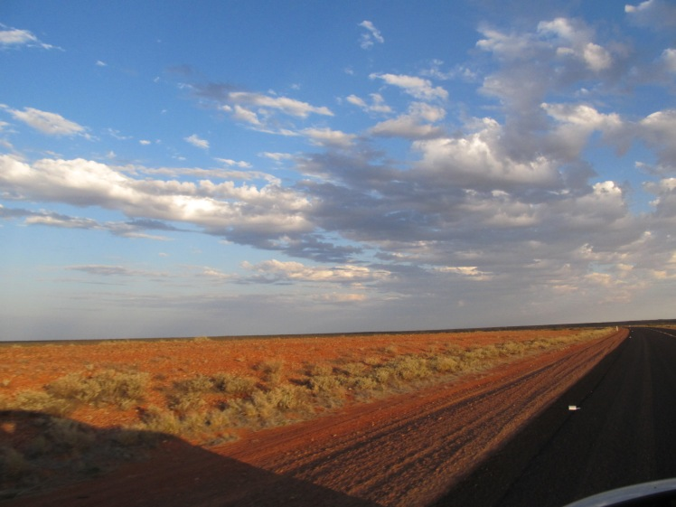 The Stuart Highway, central Australia.