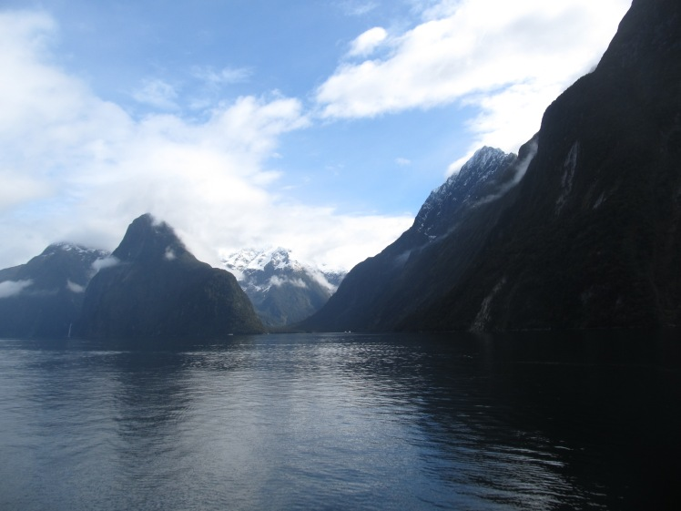 The dramatic backdrop of Milford Sound.