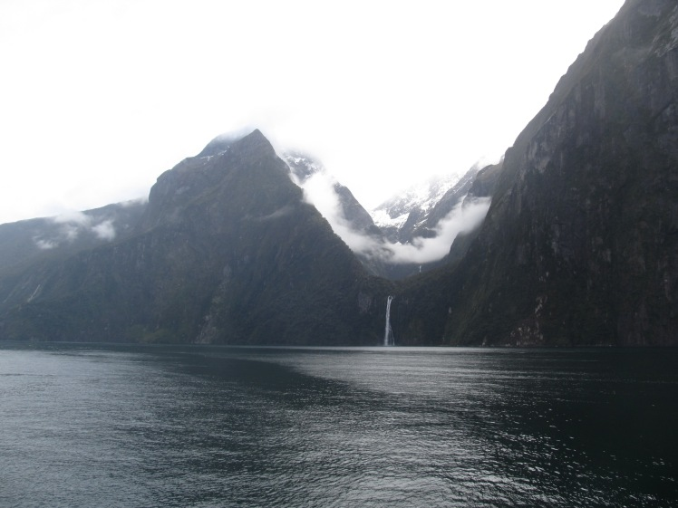 Glacier-carved hanging valley and waterfall.