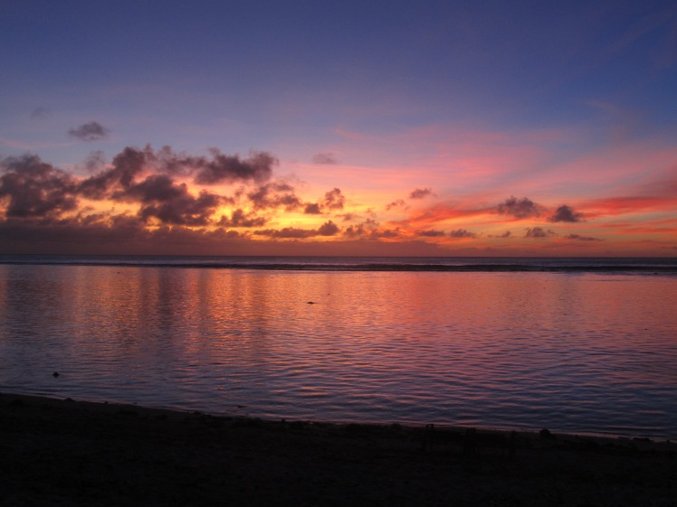Sunset in the Cook Islands.