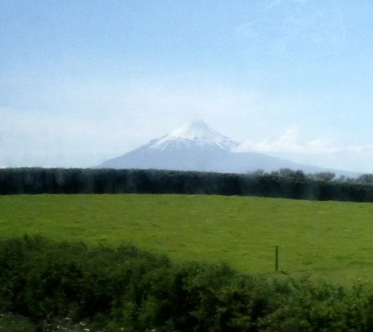 Mount Taranaki in all its majesty.