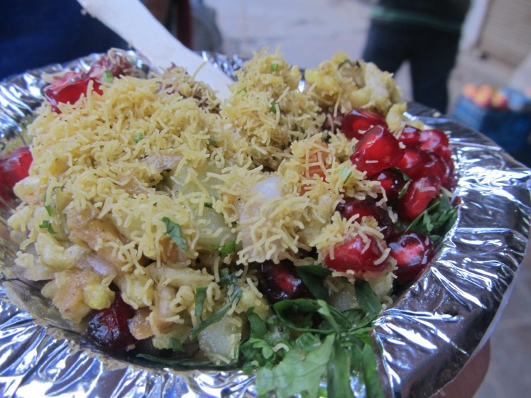 Bhol puri - an example of India's amazing street food.