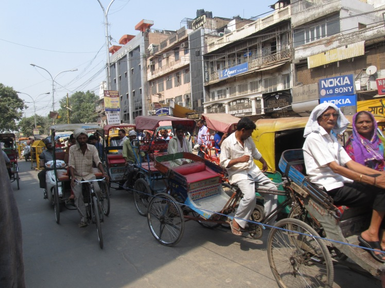 Cycle rickshaws are one of many ways to get around.
