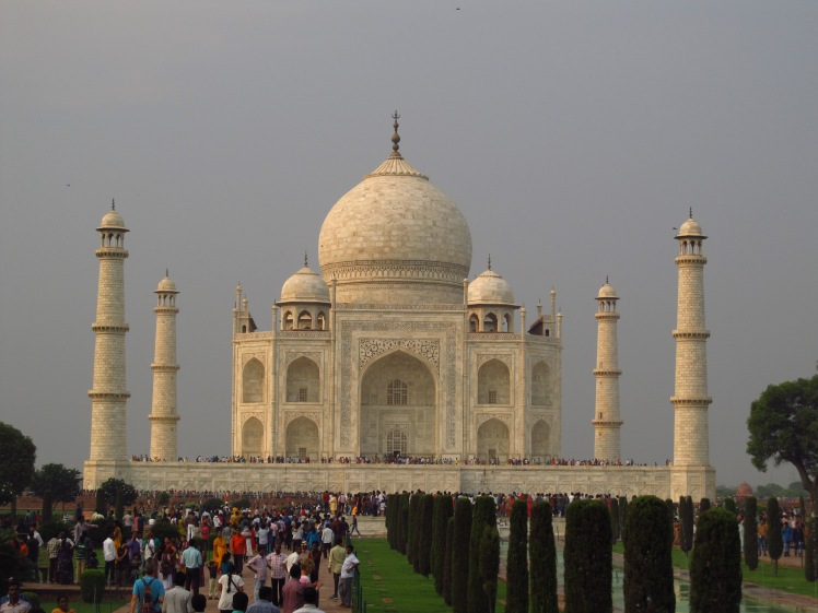 A LOT of people at India's number one tourist spot.