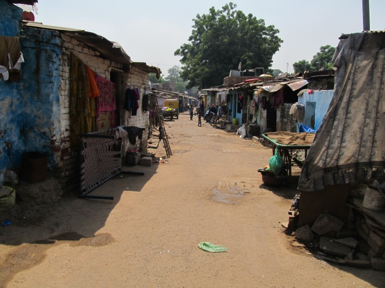 A slum community in Ahmedabad.