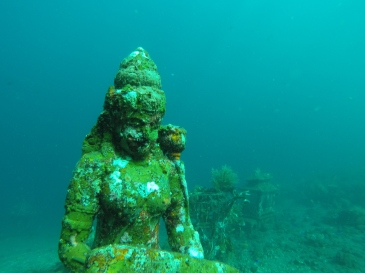 Underwater temple at Tulamben, Bali.