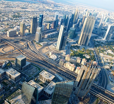 Dubai from the sky via matsubokkuri @ Flickr