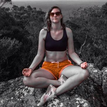Mountain-top meditation.