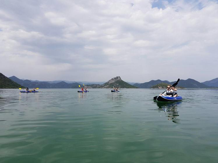 Kayaking on Lake Skadar